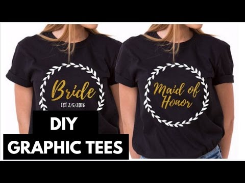 DIY GRAPHIC TEES WITH TRANSFER PAPER I Easy Custom DIY Shirts
