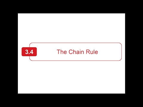 Section 3.4 - Larson Calculus - The Chain Rule