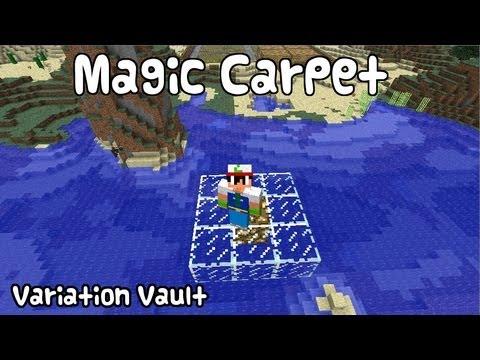 Minecraft Bukkit Plugin - Magic Carpet - Fly on a glass carpet