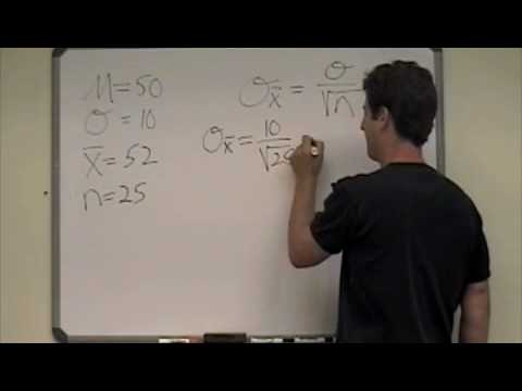 Probability of a sample mean