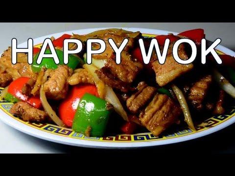 香港食品 Stir Fried : Pork Belly with Red & Green Bell Peppers