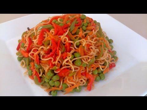 Easy to make Vegetable Noodles - Microwave Episode 108