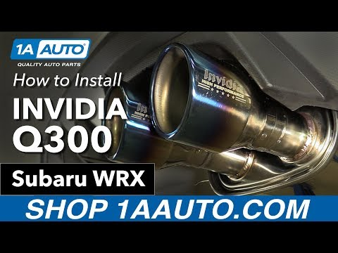 How to Install Invidia Q300 Exhaust 11-16 Subaru WRX + Before/After Comparison