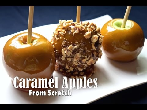 Caramel Apples From Scratch VERY EASY Recipe and How to ( No Termometer )