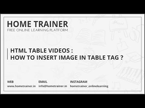 HTML TABLE VIDEOS : How to Insert Image in Table Tag ???