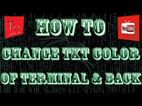 How To Change Terminal Color In Kali Linux