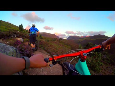 Sunset Ride - Lairig Ghru Descent - mtb - Scotland