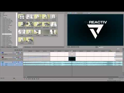 Sony Vegas - Creating a simple 2D Intro by limited