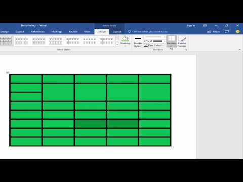 MS Office Tutorial- How to Remove Table Border Line in Microsoft Word 2017