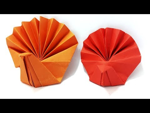 Origami Turkey Instructions | How To Make Paper Turkey - Simple Tutorial By Origami Art