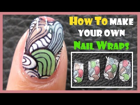 HOW TO MAKE YOUR OWN NAIL WRAPS OR NAIL ART STICKERS CREATE STAMPING VERSION JQ-L IMAGE PLATE