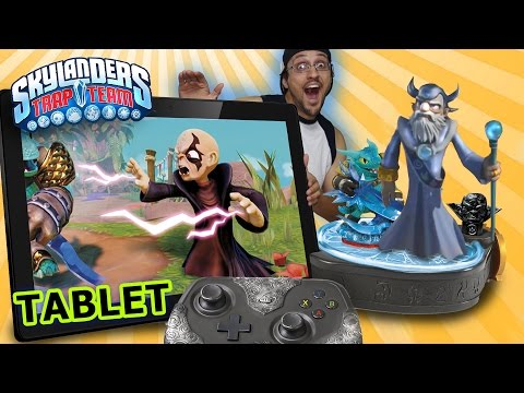 Skylanders Trap Team TABLET Starter Pack Hands-On Demo & Overview ... w/ Master Eon? (Gameplay)