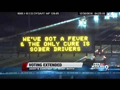 ADOT extends voting period for safety message boards