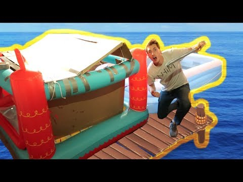BUILDING A PIRATE SHIP RAFT!