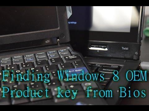 Finding an Embedded Windows 8 Product key on a ThinkPad Twist plus junk