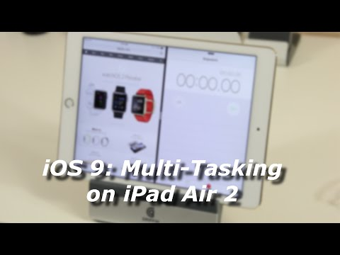 iOS 9: Split Screen Multi-Tasking on iPad Air 2