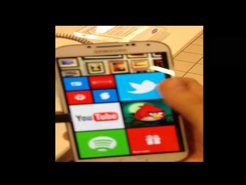 Présentation d'un thème Windows Phone 8 (PlayStore) sur Samsung Galaxy S4
