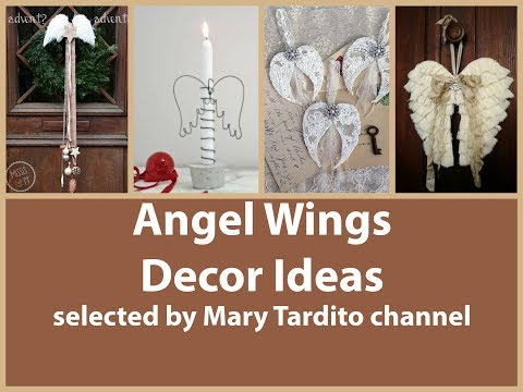 Angel Wings Decor Ideas - Vintage Shabby Chic Decorating Ideas – Christmas Angel Wings Decorations