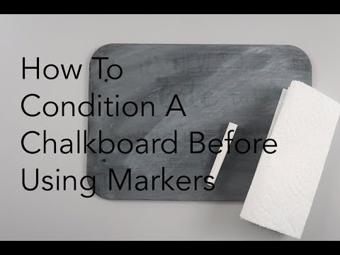 How To Condition a Chalkboard for Chalk Markers | Marvy Uchida