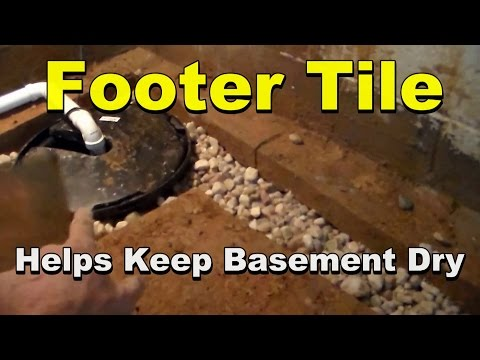 WET BASEMENT? How Footer Tile Works to Drain The Basement  Wall