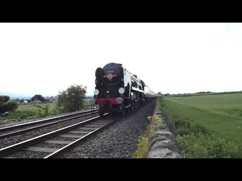 North Wales Coast Express Steam Train 34046 Braunton/34052 Lord Dowding 2.6.18