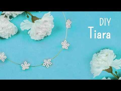 DIY beads flower Tiara | Bridal Hair accessories | Beads art