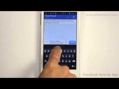 Facebook Android App - How To Chat With Friends