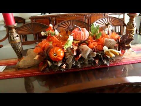 How to make a Fall Deco Mesh Centerpiece