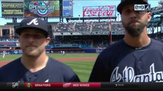 2017 Atlanta Braves introduced in New York on Opening Day