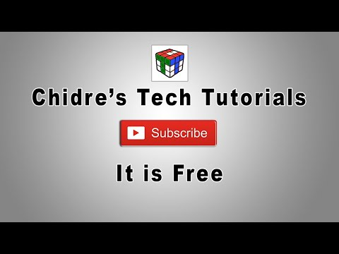 Subscribe to Chidre's Tech Tutorials - It's Free and Best Educational Channel