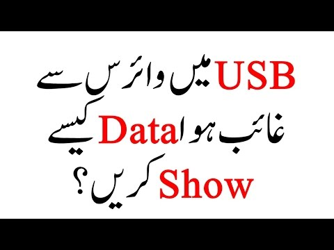 How to show Hidden files / Data on USB in URDU / HINDI