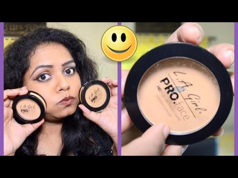 L.A Girl Pro HD Compact  Powder Review | Best Compact For Dark Skin In India | SWEETY BAWARIA |