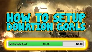How To Setup Donation Goal On Obs