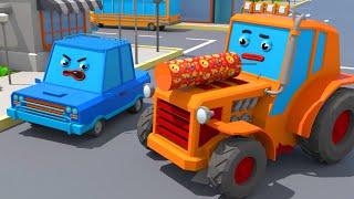 Download Трактор Играет с Хлопушкой - Городок Машинок - Мультфильмы для детей Video