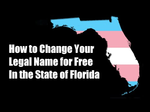How to Change Your Legal Name for Free in the State of Florida