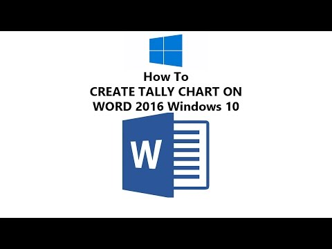How to Make Tallies in MS Word 2016 - Windows 10