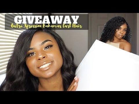 POPPIN' 10,000 SUBSCRIBER GIVEAWAY   OUTRE XPRESSION BAHAMAS CURL HAIR