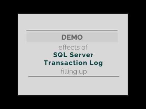 Effects of a Full SQL Server Transaction Log