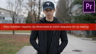 Warp Stabilizer When Clip Doesn't Match Dimensions? (EASY Premiere Pro Tutorial)