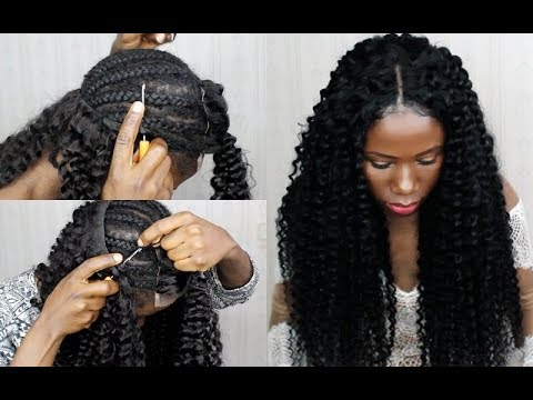 New Technique! NO SEW IN Weave NO Leave Out CROCHET Your Weave 20 Minutes