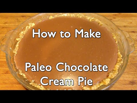 How to Make Paleo Chocolate Cream Pie