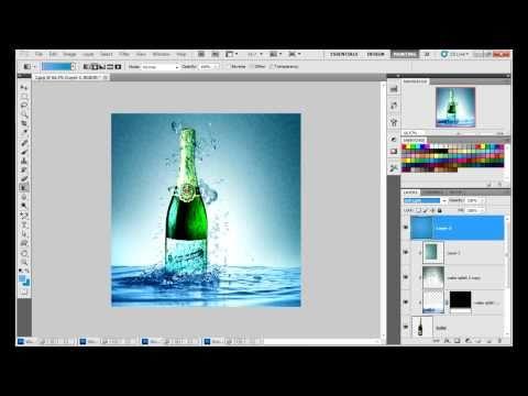 Water Splish image created in Adobe Photoshop CS5. Full HD Video, By Cstwist.com