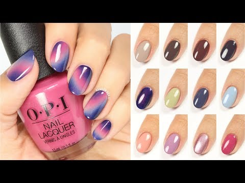 Magical Sky Nail Art + OPI Iceland Live Swatches!