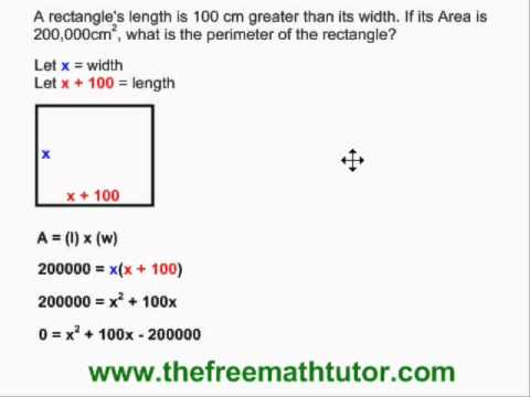 Geometry Problems in Quadratic Functions - Example 3