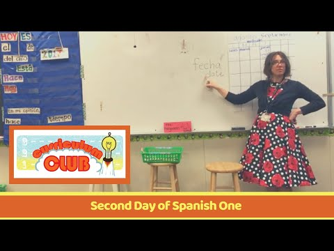 1st Period Spanish - Calendar and Setting up Card Talk - 9/1/2017