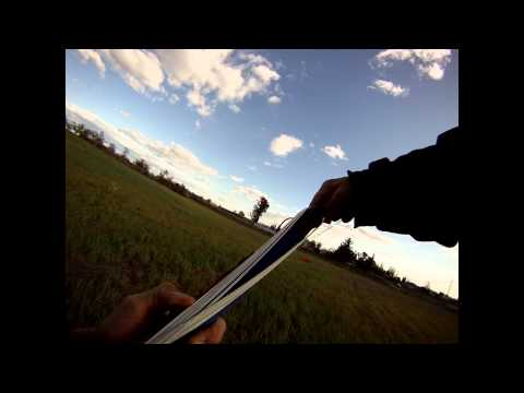 Exercise Flying A Trainer Kite For Core & Arms Workout