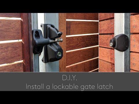 DIY Install a lockable gate latch