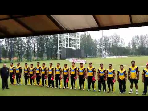 National anthem by Malaysian Malays Cricket team.. Taken by Azwin Ariffin..