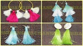 Tassel earrings/How to make silk thread Tassel earrings at home/jewellery making