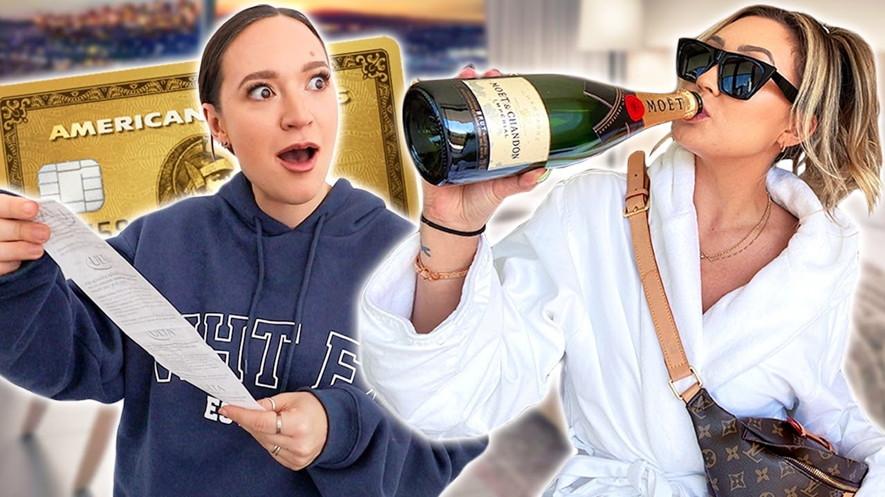 Switching CREDIT CARDS w/ Alisha Marie For 24 Hours